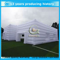 White popular custom tent inflatable square tent