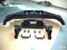 steel black offroad front bumper for pickup RAM 2500 3500
