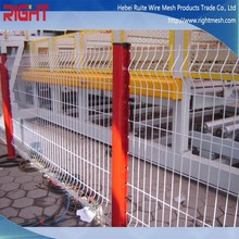 High Quality Triangle Bending Welded Wire Mesh Fence, Prefab Iron Fence Panels, Wire Mesh Fence for Sale