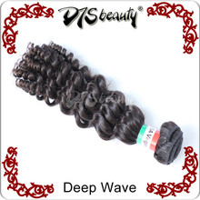 Fashionable hair style indian 7A remy virgin hair deep wave cheap curly hair weft