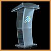 Hot bending acrylic podium desk,fashion design podium