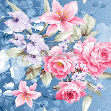 100% Polyester Big Flower Design Disperse Printed Fabric for Bedding and Home Textile