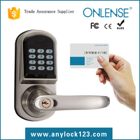 Electronic keypad entry door lock for home security