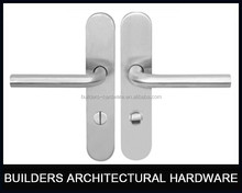 High class JL01WC Stainless steel Long Plate door Handle with WC knob