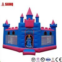Theme Park Inflatable Water Slide Inflatable Castle Slide