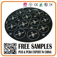 94v0 LED PCB circuit board with black soldermask