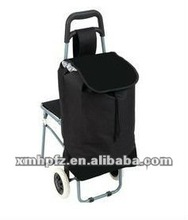 trolley bag with folding chair backpack new black