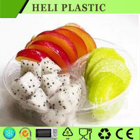 Custom hot sale plastic fruit salad packaging container with compartments