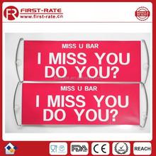 custom retractable fan hand scrolling banner