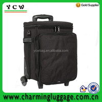 1200D 6 pack wine bag/6 bottle wine bag on wheels