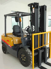 3ton LPG forklift trucks with Mitsubishi S4S engine,manual hydraulic carrier,small forklift made in China
