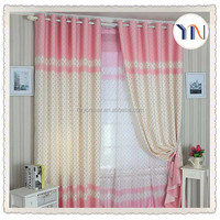 100% polyester blackout fabric, curtain most beautiful for wedding room, sweet curtain