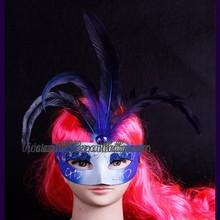 WHM-005 Yiwu Caddy Colorful Flower venetian masquerade half face mask,halloween dress ball eye mask,sex party mask