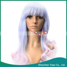 Curly Costume Party Cosplay Dual-use Long Wig Blue Pink
