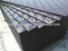 Black or brown film melamine glue Film faced plywood sheet with low price and logo