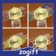 ZOGIFT New fashion cute handcrafted Woven quartz watch
