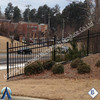High Quality Villa Security Fence Zinc Steel Fence /child safety pool fence
