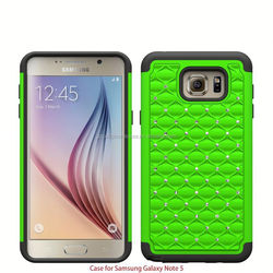 Luxurious Hybrid Dual Layer Total Defender Diamond Bling Case For Samsung Galaxy Core Prime G3606