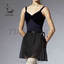 2015 sexy profesional baller georgette falda con cinta de raso
