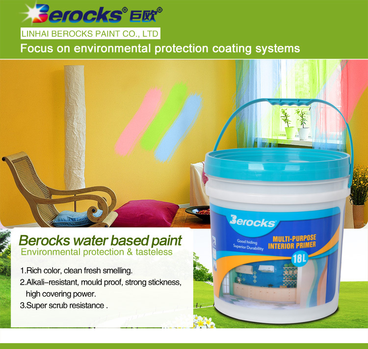 water based environmental odorless anti-yellowing interior wall paint for children room