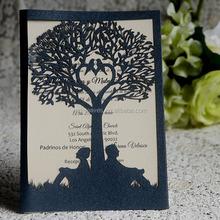 The Latest Unique Tree-shape Wedding Invitation Card, Customized Wedding Invitations for Wedding Decoration