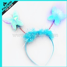 christmas butterfly design LED flashing headband