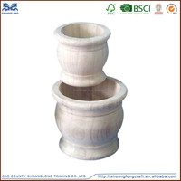 Handmade natural wood vases,handcrafted square vase