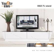 dubai modern acacia wood shelves wooden lcd tv stand design D823