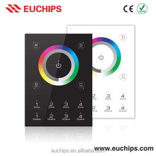 Compatible with any DMX fixtures or DMX drivers 5VDC Wall Mounted RGB LED Touch Controller