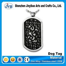 promotional gift metal 3D dog tag zinc alloy