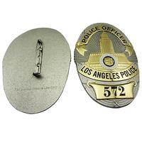 2015 hot selling LAPD custom metal military cap badge