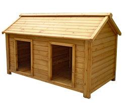 Garden Two Doors Design Wooden Dog House