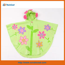child costume kids PVC coated rain poncho with hood