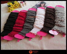 Hot Brown Women Knitting leg warm Snowflake Deer Shape Footless Knee Socks leg warm