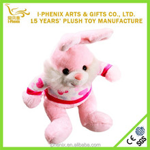 Girl best gifts pink rabbit plush toy stuffed rabbit for home decoration