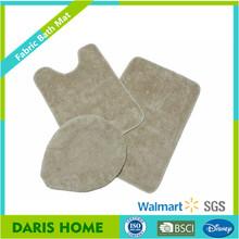 3 Pieces Non- toxic subatance thick comfort Microfiber Bathroom Mat Mat Set