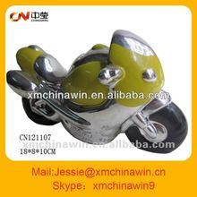 motorbike shape porcelain money box
