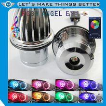 ANGELHUE plug and play ce rohs 12v led modified car accessory e90 led rgb angel eye daytime running light for bmw e60