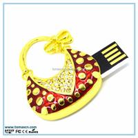 Free shipping Jewelry bag USB stick , Fashion bag with diamond Pendrive
