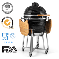 Mobile Gardener Chiminea Charcoal BBQ Grill Smoker