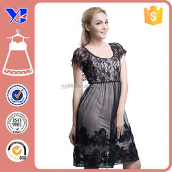 Casual Women Summer Lace dress design Sexy tight Short Transparent Hollow out Black Lace dress Patterns for Lady Girls Fat women