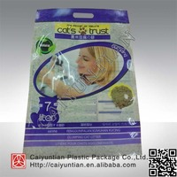 cat litter plastic bag with handle and zipper/biodegradable pet poop plastic bag with handle
