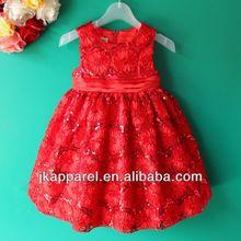 venta al por mayor ropa para niños rosa de cumpleaños de vestidos para niñas jk8810