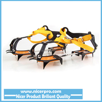 10 Crampon Strap Type Snown Ice Crampons Ski Belt High Altitude Hiking Climbing Slip-resistant