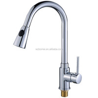 Contemporary high quality factory price pull out spout chrome plated spray water faucet for kitchen sink from China supplier