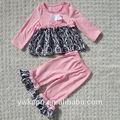 Chicas lindas de otoño traje boutique, bebé niño ropa, ropa del bebé conjunto