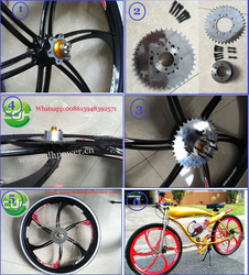 2015 new design wheel for motorized bicycle /gas powered three wheel scooter