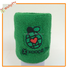 Various kinds of colors embroidery personalized logo cotton wrist sweatband