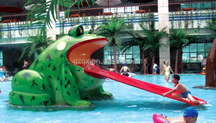 Swimming Center Fiberglass Water Park Slides For Sale Swimming Pool Equipment Frog Shape Water