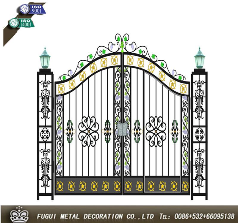 Oem new design iron main gate designs buy iron main gate for Latest main gate designs